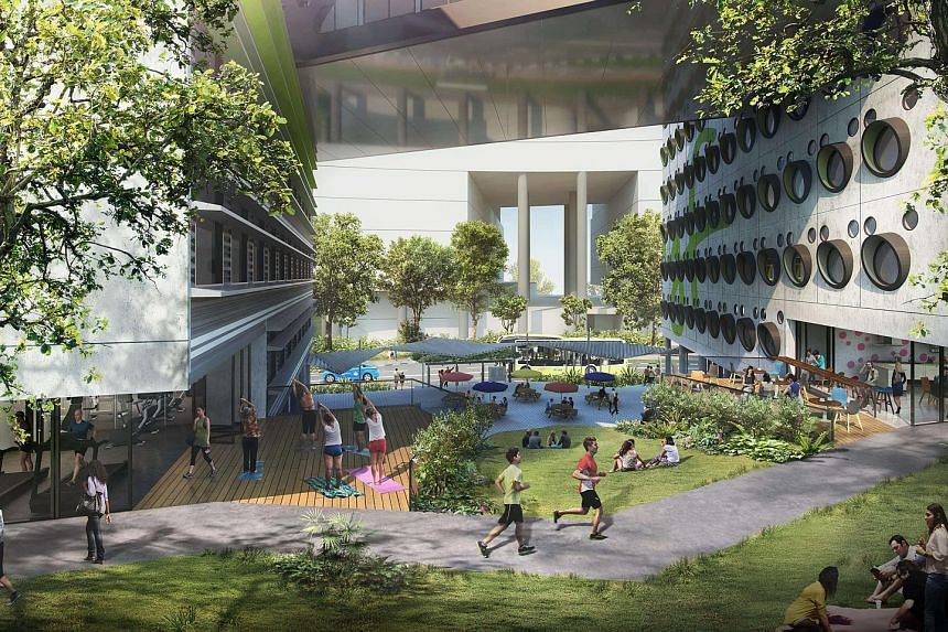 An artist's impression of co-living property lyf one-north Singapore, to be developed by Ascott Residence Trust. It is slated to obtain its temporary occupation permit by 2020 and open in 2021.