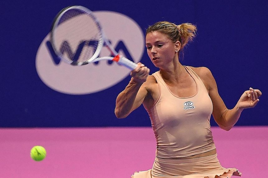 Giorgi ousts top seed Wozniacki at Pan Pacific