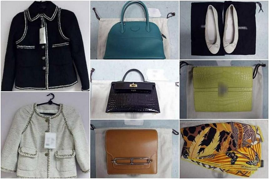 Singapore Customs officers found a total of 30 luxury goods, including handbags, shoes, coats, dresses and scarves, worth over $469,890 in the luggage of Tammy Tien Mi.