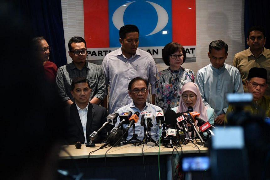 Malaysian politician Anwar Ibrahim at a press conference at the Parti Keadilan Rakyat headquarters in Petaling Jaya, on Sept 21, 2018.