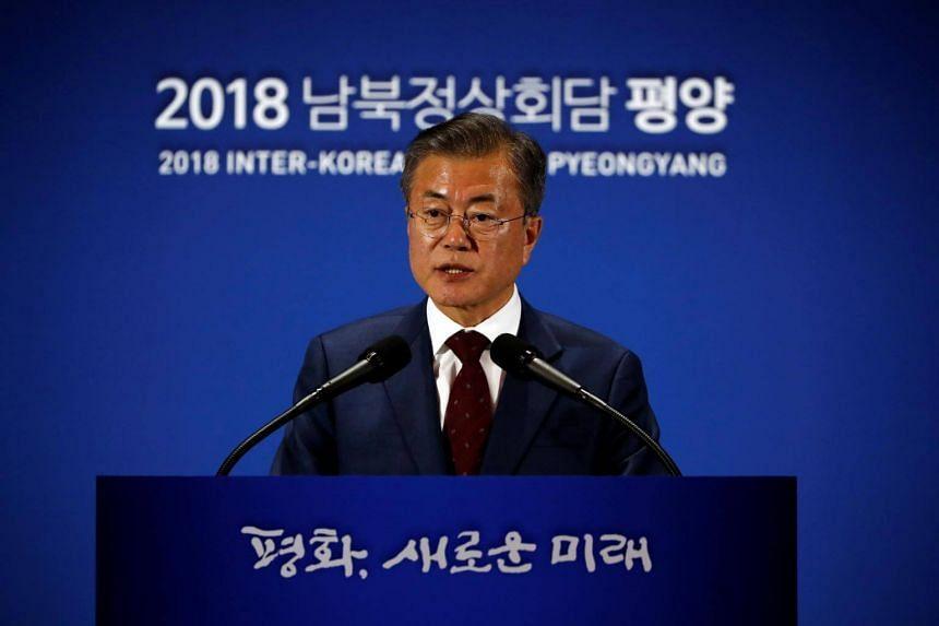 moon hopes us north korea resume nuke talks east asia news top