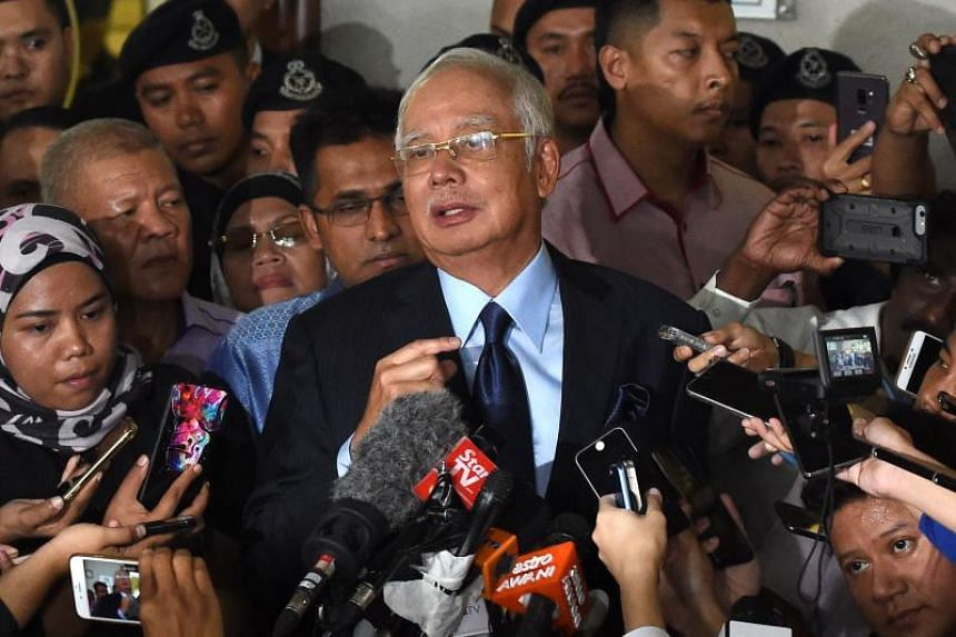 Former Malaysia Prime Minister Najib Razak was granted bail of RM3.5 million (S$1.2 million) with two sureties in his latest court case after he was slapped with 25 graft and money-laundering charges involving RM2.3 billion.