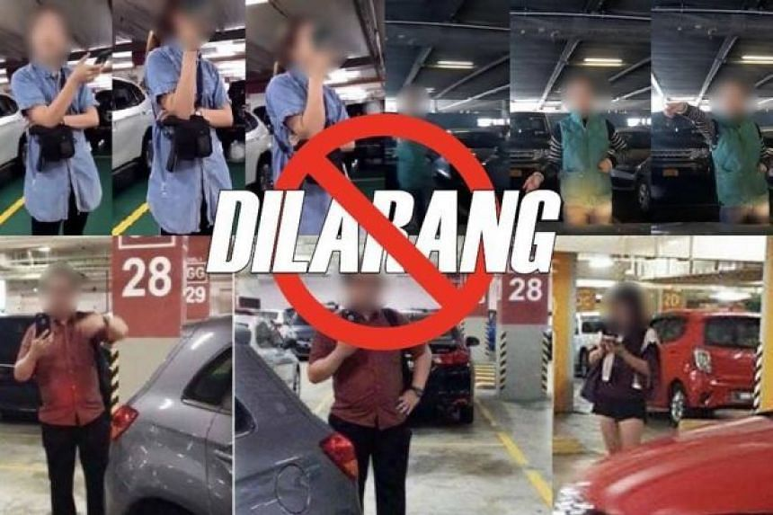 The Royal Malaysia Police said it is against the law to physically place oneself in a parking space to prevent other vehicles from using it.