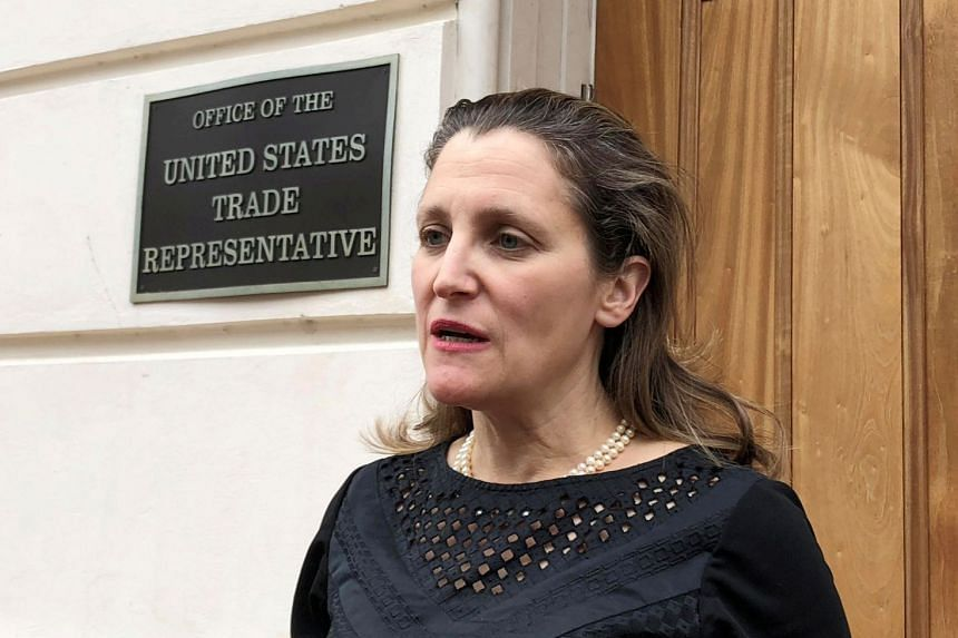Canadian Foreign Minister Chrystia Freeland (above) left Washington after two days of inconclusive talks.