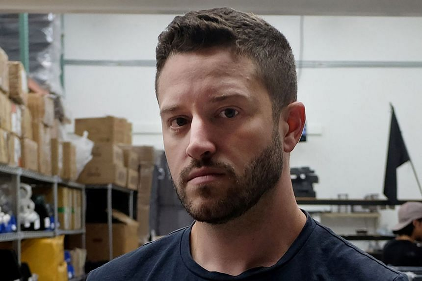 Cody Wilson poses at his factory in Austin, Texas, in August 2018.