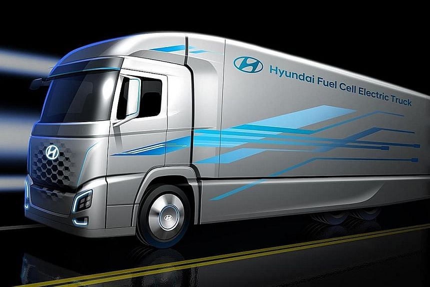 Fuel cell truck