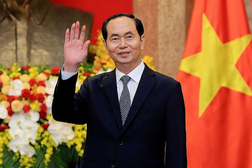 Vietnamese President Tran Dai Quang in a photo taken in March. Though he was officially the head of state, his role was seen as largely ceremonial, greeting visiting leaders and hosting diplomatic events. ▕