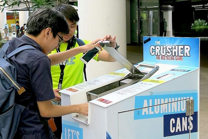 A Crusher Machine, as well as 10 Big Bottle Bins, will be placed at the National Stadium, where the run finishes, for runners to dispose of their empty cans and bottles.
