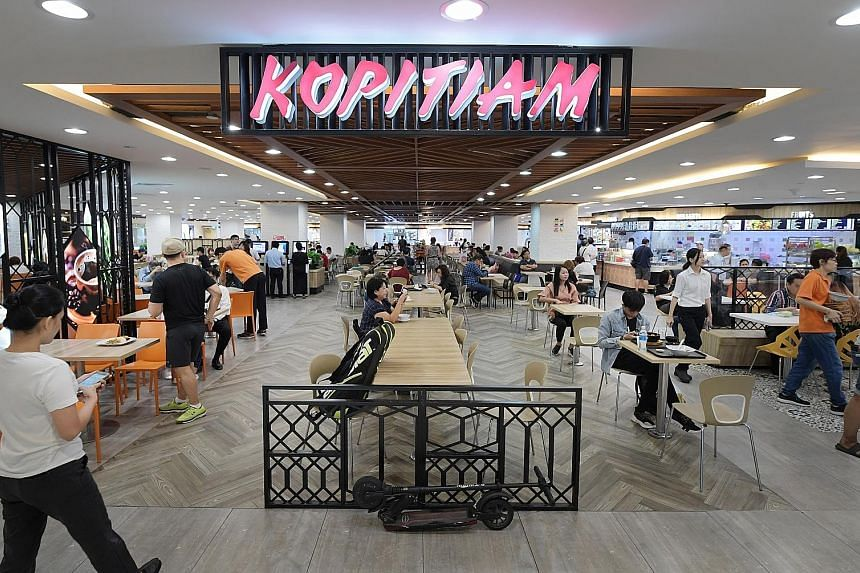 Kopitiam has 80 outlets islandwide comprising 56 foodcourts, 21 coffee shops and three hawker centres, as well as two central kitchens.