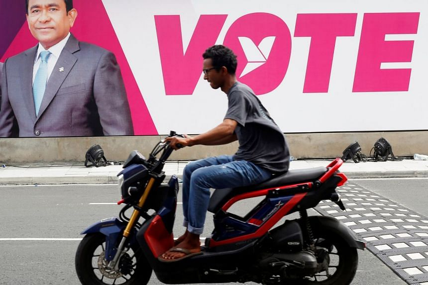 The Asian Network for Free Elections said the political environment in the tourist paradise was heavily tipped in favour of President Abdulla Yameen and they did not expect a fair contest.