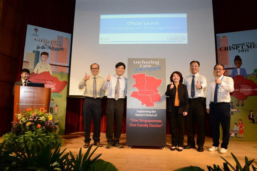 (From left) Associate Professor Ian Leong, Clinical Director at the Division of Central Health at TTSH; Associate Professor Thomas Lew, Chairman of the Medical Board at TTSH; Ms Loh Shu Ching, executive director at  the Division of Central Health at