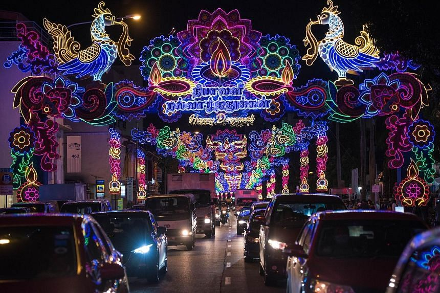 Little India was a blaze of brilliant lights last night, with the colours of the rainbow on dazzling display as the countdown to Deepavali begins. The Hindu Festival of Lights falls on Nov 6, but the festive lights in Tekka, as the area is also known