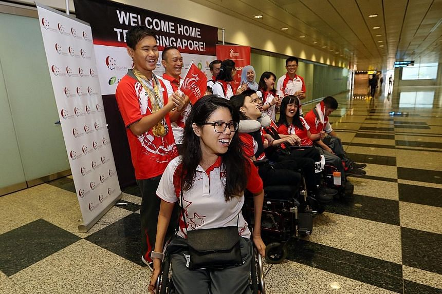 Yip Pin Xiu. chef de mission for last year's Asian Youth Para Games in Dubai, with the contingent upon their return. She hopes to build on the work of previous sports Nominated MPs and also aims to make a difference in areas such as climate change.