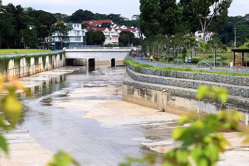 PUB's Active, Beautiful, Clean Waters project along the 800m stretch of the Bukit Timah First Diversion Canal includes the addition of rock walls and plants along the canal banks to soften their concrete appearance.