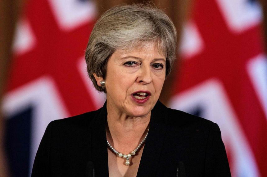 May makes a statement on the Brexit negotiations following an EU summit in Salzburg, Austria.