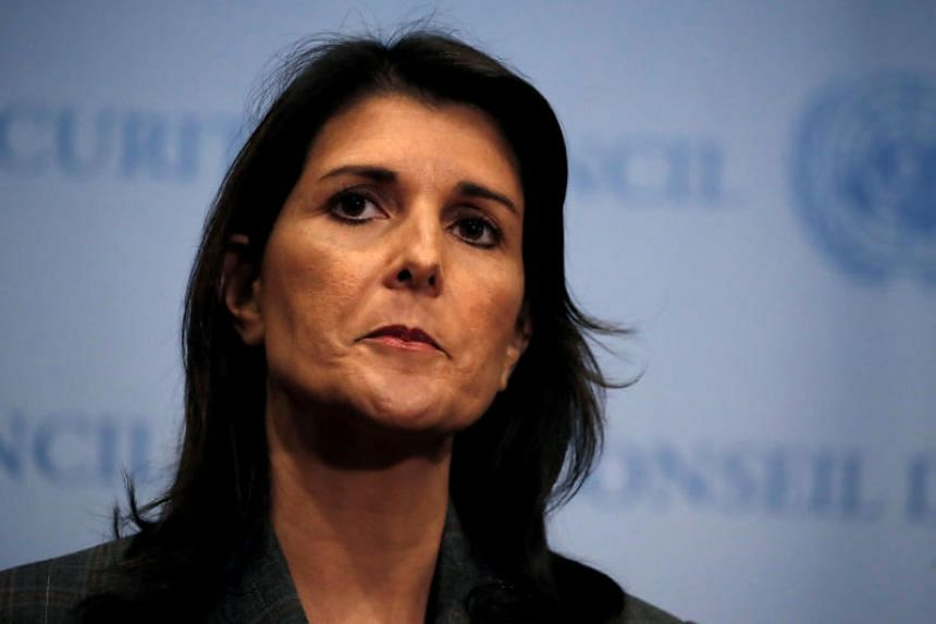 US Ambassador to the United Nations Nikki Haley dismissed Iranian President Hassan Rouhani's accusation that other countries including the United States of provoked the shooting attack on a military parade that killed 25 people as rhetoric.