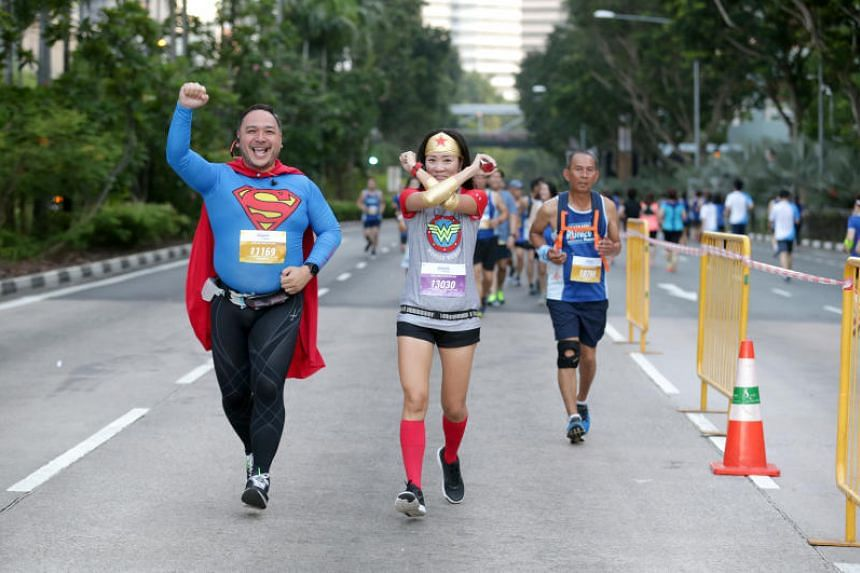 The Straits Times Run participants along Nicoll Highway on Sept 23, 2018.