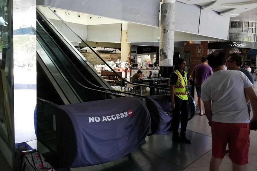 Some sections of Plaza Singapura's extension wing were closed to customers on Sept 23. The older part of the mall was unaffected.
