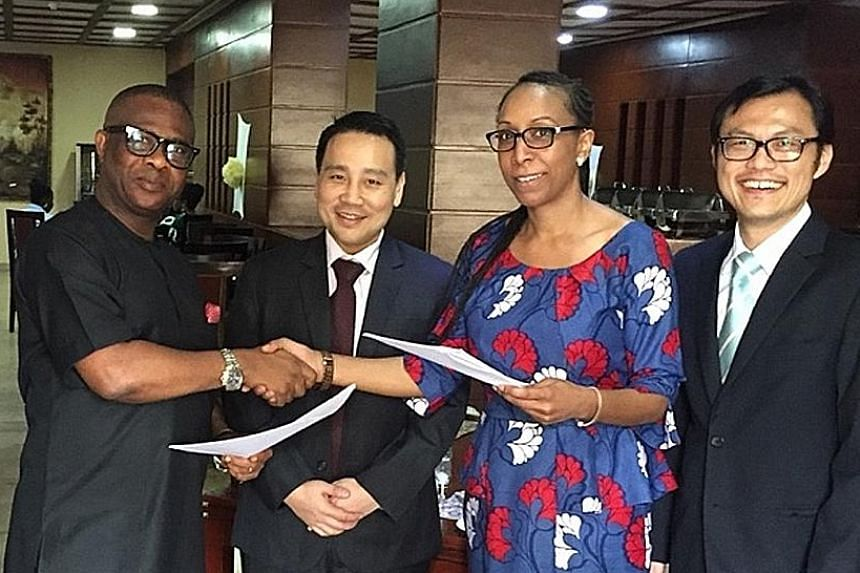 (From left) Cross River State's director-general of bureau of public-private partnership Udiba Effiong Udiba; Arcadier co-founder Kenneth Low; Arcadier CocoaOne president Adaeze Ekwueme; and Arcadier chief financial officer Tang Jiunn Shyong at the s