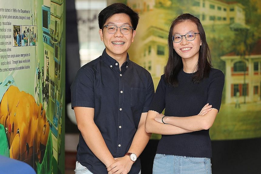 NUS nursing students Benedict Choong and Jessica Tan hope to become advanced practice nurses who are trained in the diagnosis and management of chronic diseases in the future.
