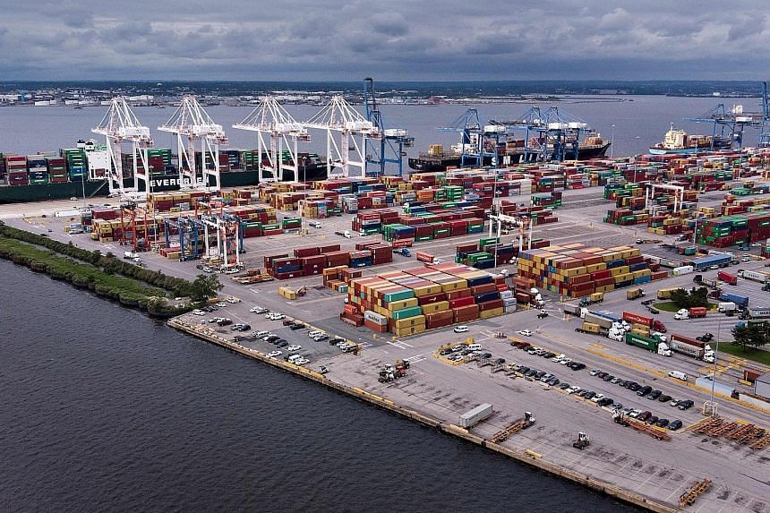 Ports across the United States, including the Port of Baltimore (above) in Maryland, are worried tit-for-tat tariffs in the trade war will crimp shipments, denting port revenues.