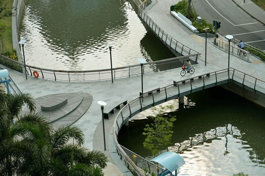 File photo of The Sunset Bridge, which connects the two sides of Rochor Canal.