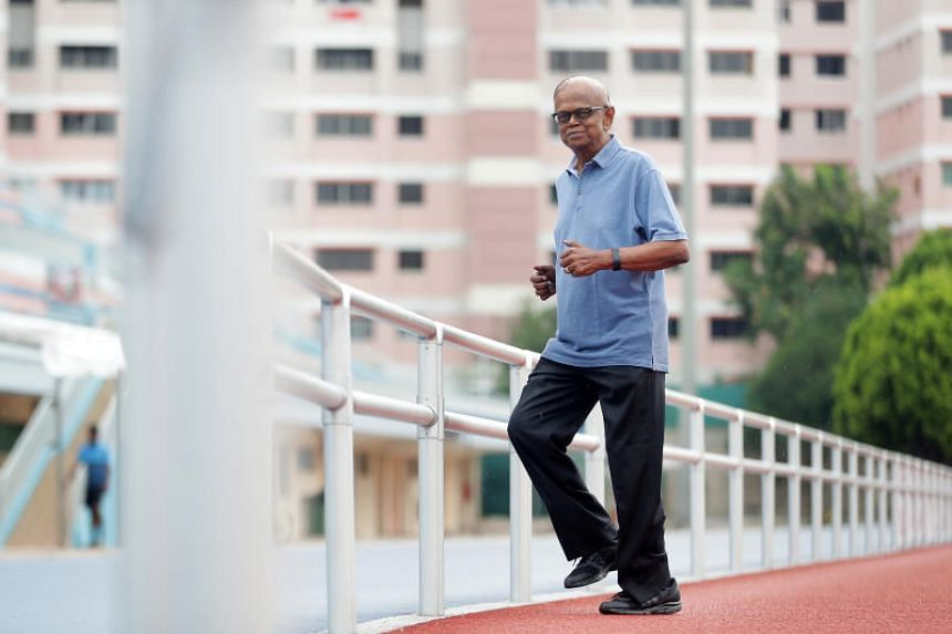 """Mr Veerappan Veerappan, who was diagnosed with a heart murmur last year and is also undergoing cancer treatment, completed the fun run in an hour, an achievement he described as """"most satisfying""""."""
