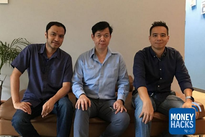 CEO and founder of home-grown cryptocurrency exchange BCoin, Davy Goh (centre), tells Money Hacks co-hosts Ernest Luis (left) and Chris Lim (right) how local SMEs can raise capital more easily with funding from a wider global pool of investors throug