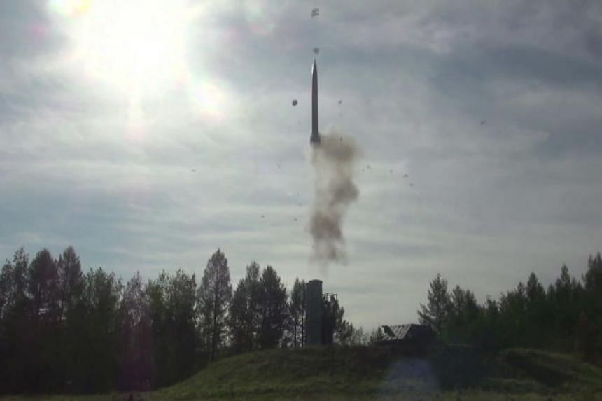 The Russian anti-aircraft missile system S-300 takes part in the Vostok-2018 (East-2018) military drills in Zabaykalsky Kray, Russia, on Sept 13, 2018.
