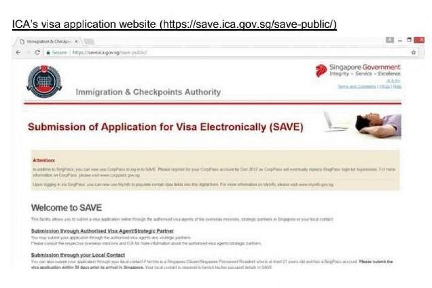 The official website from the Immigration and Checkpoints Authority.