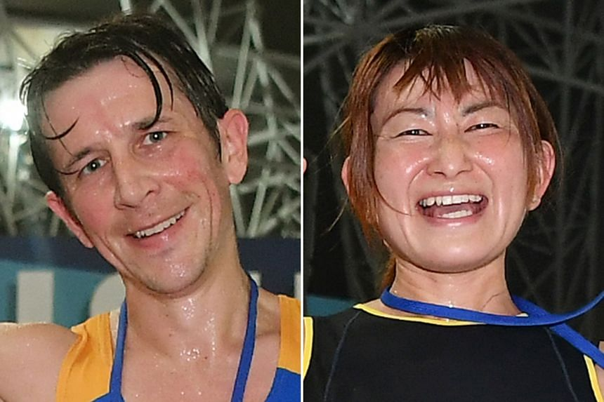 Briton Ben Moreau claimed the men's 18.45km title in 1hr 2min 49sec, while Japanese Maki Inami won the women's race in 1:11:01.