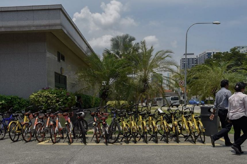 The Land Transport Authority has added public bicycle parking spaces outside Little India MRT Station.