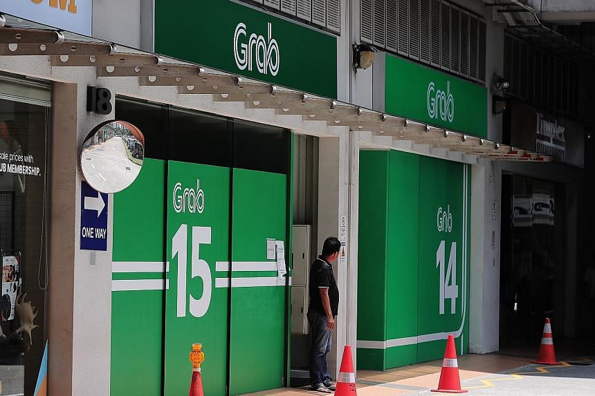 Grab's driver centre in Sin Ming Lane.