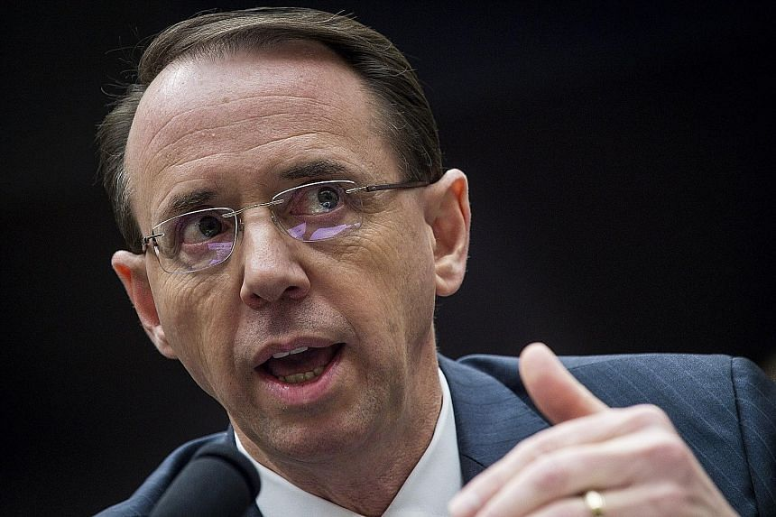 US Deputy Attorney-General Rod Rosenstein oversees the special counsel investigation into Russia's role in the 2016 polls.
