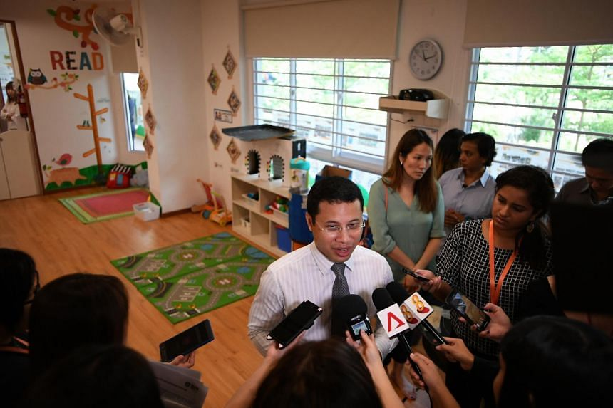 Minister for Social and Family Development Desmond Lee at the opening of a pre-school in Bishan North on Sept 25, 2018. He said that a childcare centre, among other things, will be built on the site of the former Henderson Secondary School.