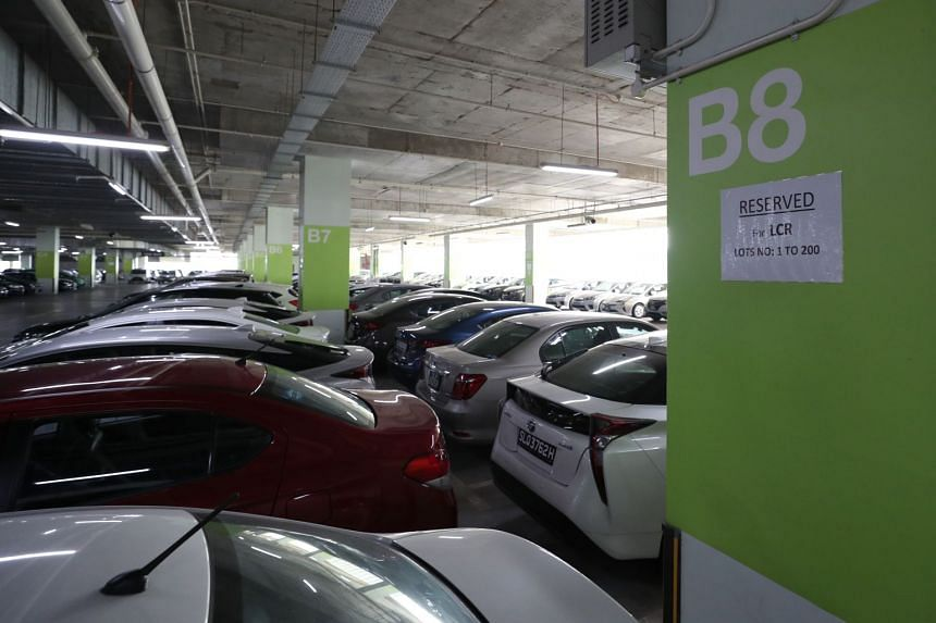 Lion City Rental cars parked at the Big Box carpark in Jurong on Sept 24, 2018.