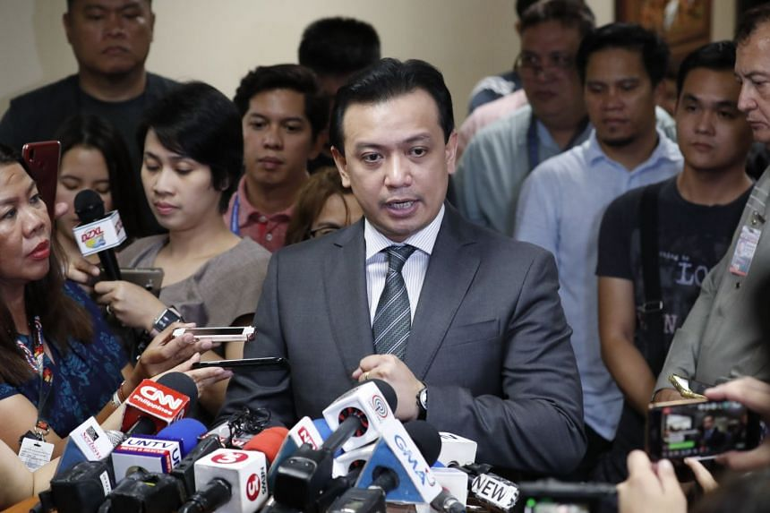 Philippine Senator Antonio Trillanes (pictured) accused President Rodrigo Duterte of hiding wealth and being responsible for alleged executions of thousands of suspected criminals and drug dealers.