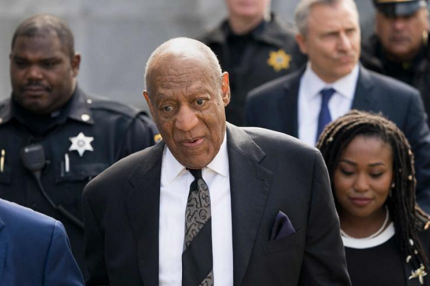 Bill Cosby departing the Montgomery County Courthouse on March 6, 2018, in Norristown, Pennsylvania.