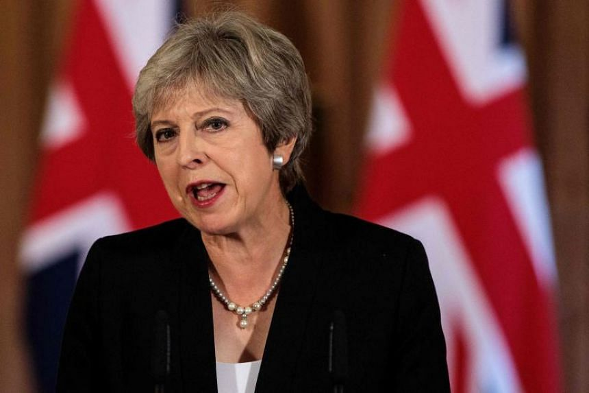 Britain's Prime Minister Theresa May makes a statement on the Brexit negotiations following a European Union summit in Salzburg, at no. 10 Downing Street, central London, on Sept 21, 2018.