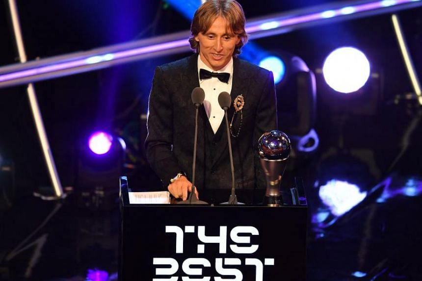 Real Madrid and Croatia midfielder Luka Modric speaks during The Best Fifa Football Awards ceremony, on Sept 24, 2018 in London.