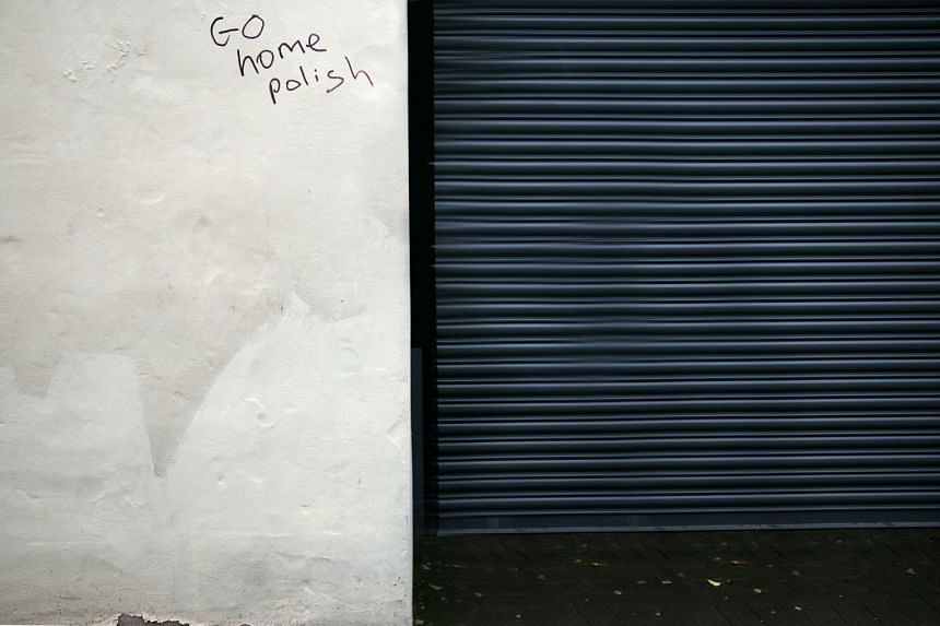"Photographer Michal Iwanowski walked from Wales to Poland in response to an anti-migrant message which said ""Go Home, Polish""."