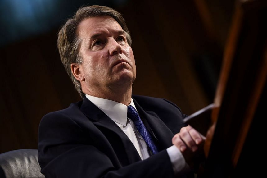 File photo of Brett Kavanaugh during his US Senate Judiciary Committee confirmation hearing to be an Associate Justice on the US Supreme Court, on Sept 4, 2018.