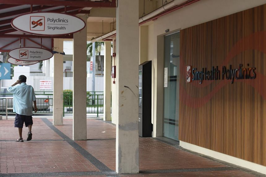 The logo of SingHealth seen outside Marine Parade Polyclinic, on Sept 21, 2018.