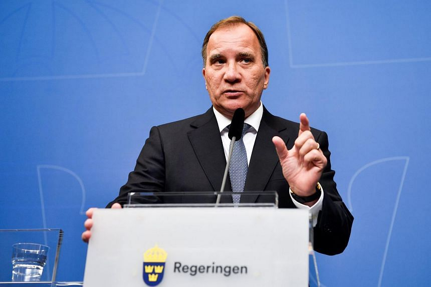 Swedish prime minister Stefan Lofven attends a news conference at the government headquarters in Stockholm, Sweden, on Sept 12, 2018.