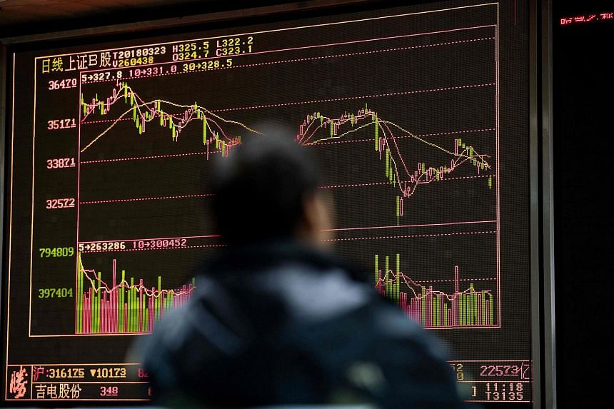 The Shanghai Composite Index dropped 0.5 per cent.
