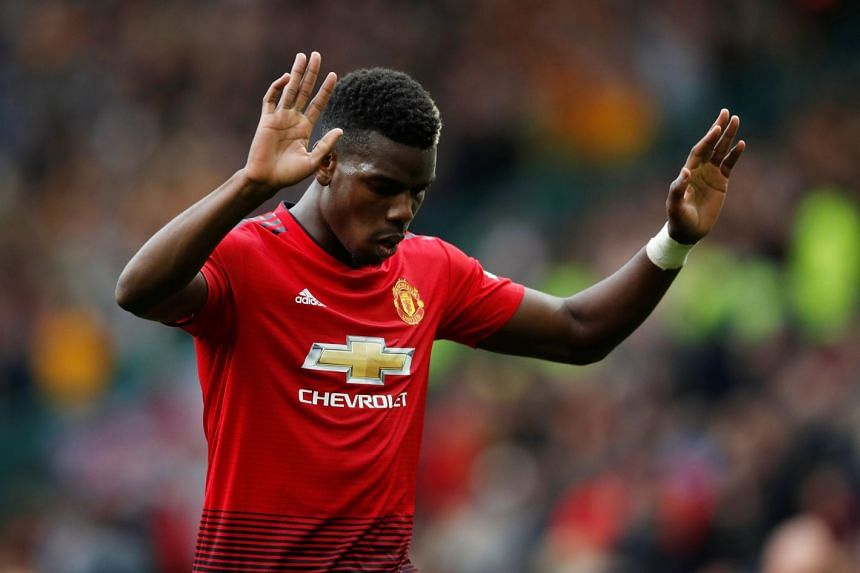 Manchester United's Paul Pogba reacts after a match.