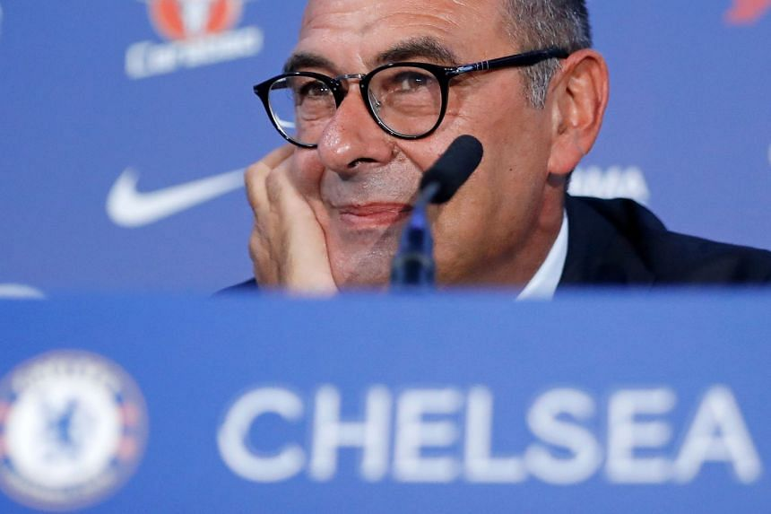 Chelsea – in Sarri's (above) first season at Stamford Bridge – have 16 points out of a possible 18.