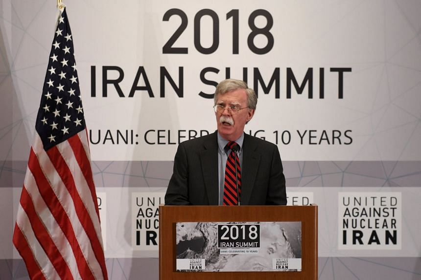 """National security adviser John Bolton promised """"terrible consequences"""" for anyone who continues to do business with Iran after Nov 4, 2018."""
