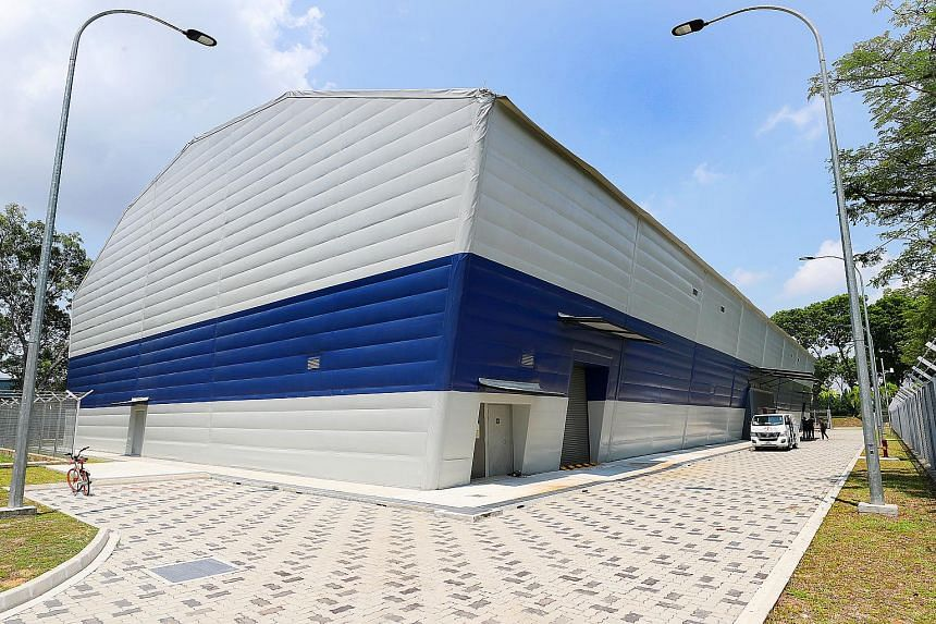 The RSS Daring - Littoral Mission Vessel Simulation Centre at Tuas Naval Base. It houses two simulation halls.