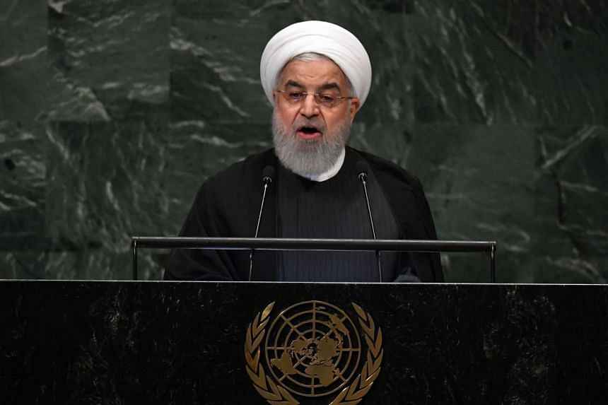 Iranian President Hassan Rouhani addressing the UN General Assembly.